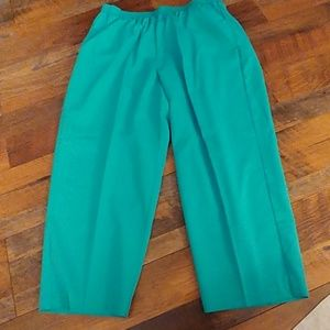 Alfred Dunner 18W Short Teal Pants